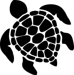 turtle clipart black