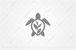 turtle logo white