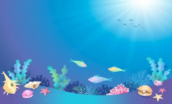 under the sea clipart coloring