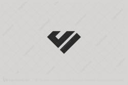 v logo diamond