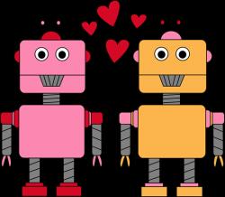 robot clipart valentine