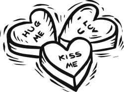 heart clipart black and white candy