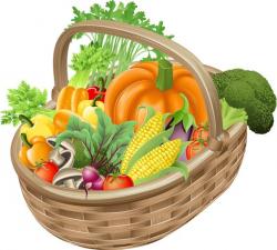 vegetables clipart basket