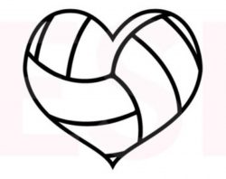 basketball clipart black and white heart shaped