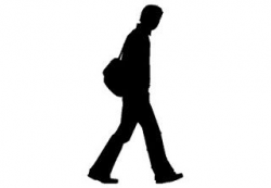 person silhouette clipart walking