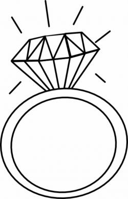 diamond ring clipart svg