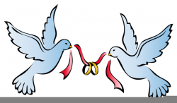 wedding rings clipart dove