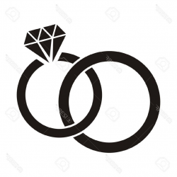 wedding rings clipart symbol