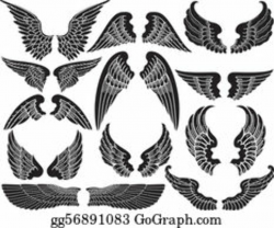 wings clipart black