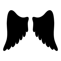 wings clipart silhouette