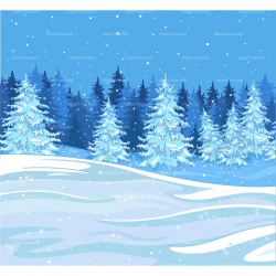 forest clipart winter
