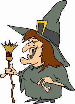 witch clipart animated