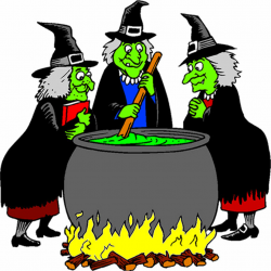 witch clipart cooking