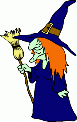 witch clipart standing