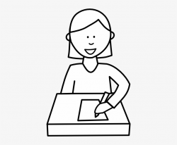 writing clipart black and white