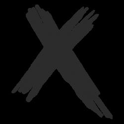 x transparent svg