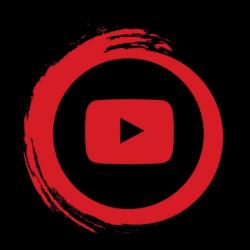 youtube clipart logo dark